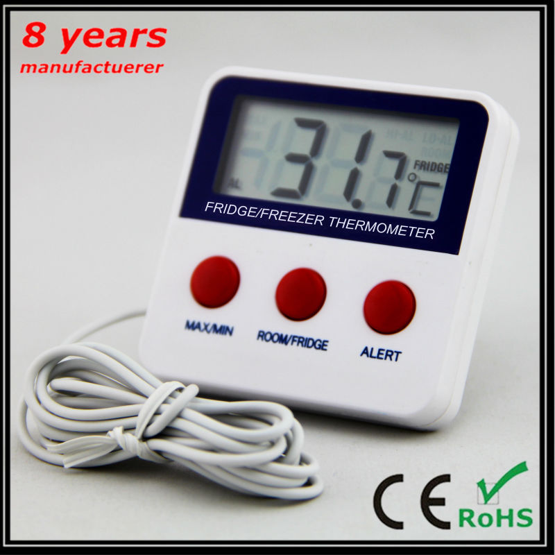 min max aufnahme k hlschrank gefrierschrank digitale alarm thermometer k hlschrank. Black Bedroom Furniture Sets. Home Design Ideas