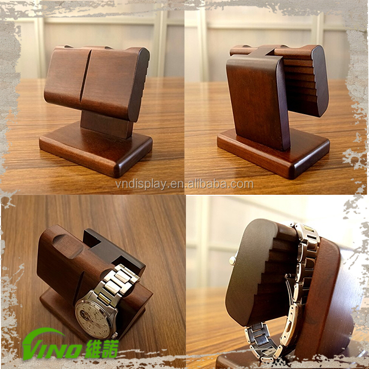 Lovely Senior Wooden Wrist Watch Display Holder Stand Display - Buy Watch  KD53