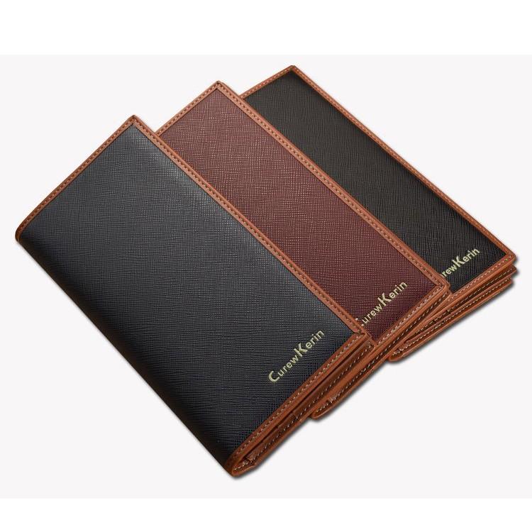 Curewe Kerien male wallet long cards holder simple wallet with Cross pattern grain design