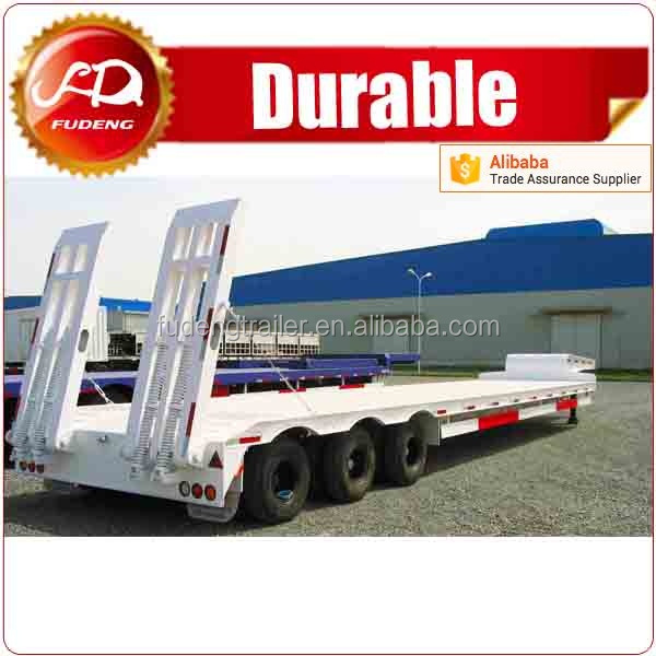 2016 Heavy duty 3 axle lines 100 tons lowboy low bed trailer for big equipment
