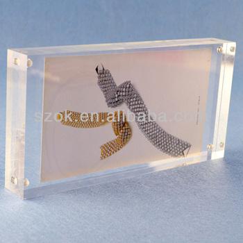 clear 5x7 acrylic magnetic frameless photo frame wholesale