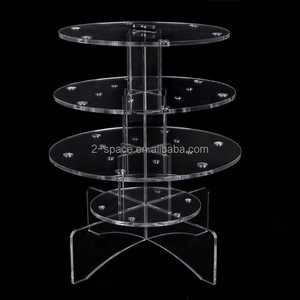 Acrylic Cake Pop Stand Lollipop Display 18 Holes Cupcake Stand Tower