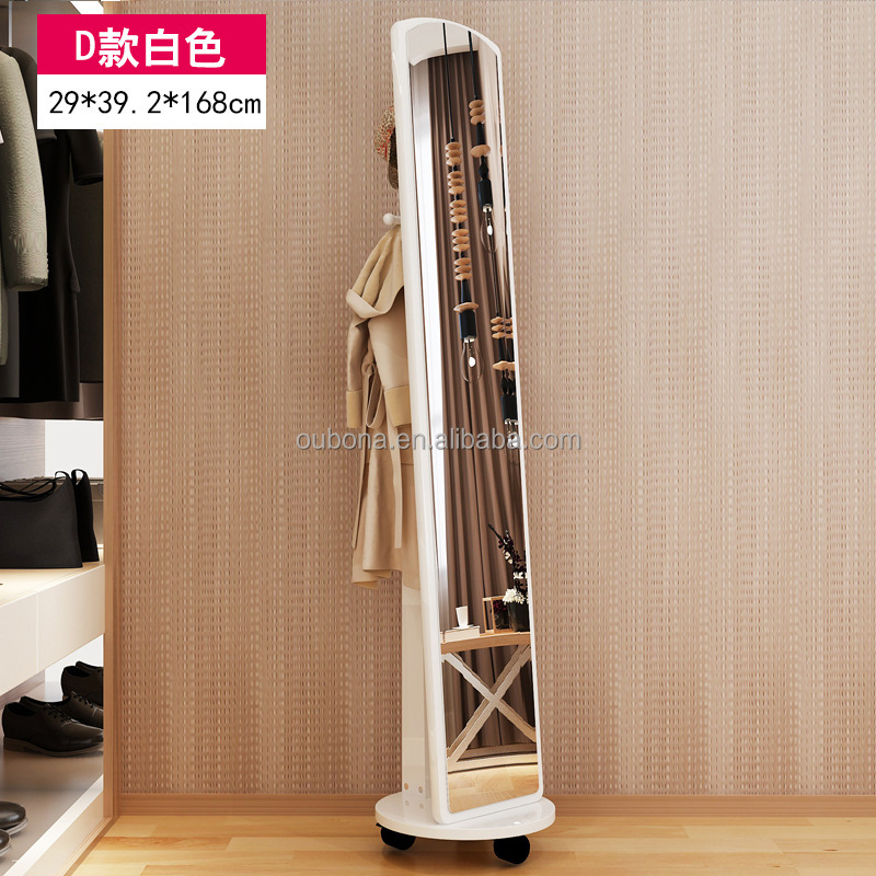 Modern Floor pulley Mirror Home Bedroom Store MDF Frame & Stand Full Body Length