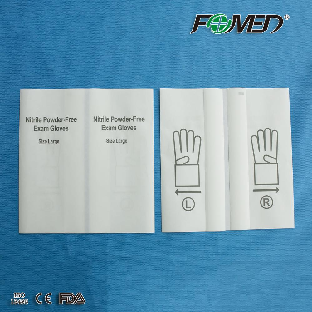 Medical glove paper pouch wallet paper/ paper liner