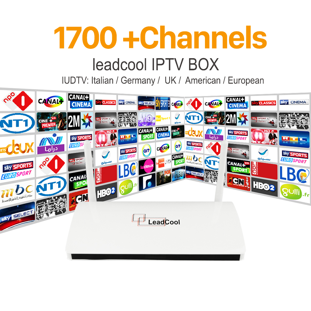 Europe ArabicTunisian Algerian Lebanon Leadcool IPTV <strong>TV</strong> Box 1G RAM 8G ROM with 1 Year IUDTV 1700+ Channel iptv Software Hardware