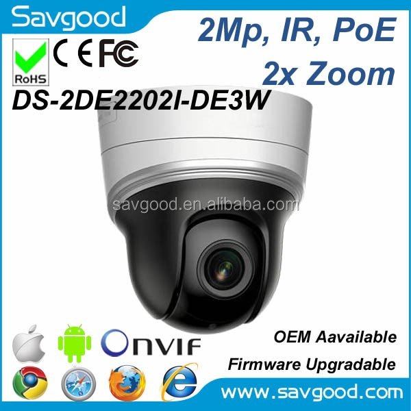 Hikvision English firmware upgradable firmware 2MP PTZ camera DS-2DE2202I-DE3W
