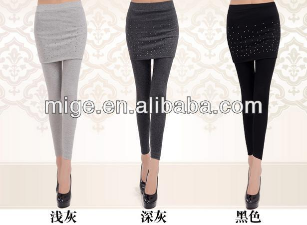 2014 girls leggings with skirt ,crystal girl skirt leggings 3 colors (LS003)