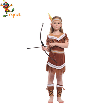 PGCC5029 Carnival Halloween Party Cosplay Indian Dance Costumes For Kids