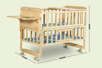 Custom Made Unfinished Wooden Baby Crib