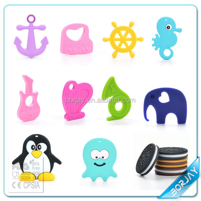 2015 Baby Safety Baby Toys Teether/Soft Silicone Baby Nursing Teething Toys