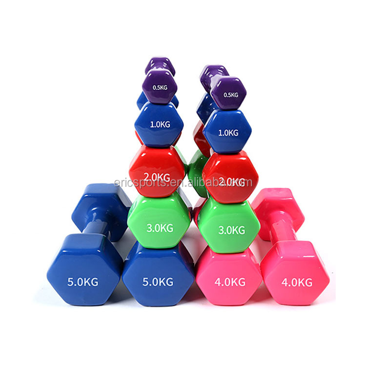 Vinyl Dipping Dumbbell Rack Set with Stand And Dumbbell
