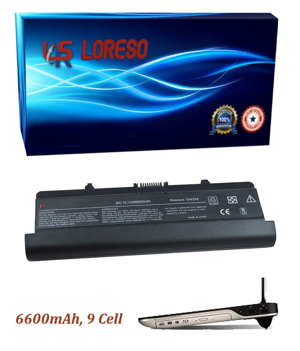 Laptop Battery Dell Inspiron 1546 XR682 0XR682 OXR682 WK381 0WK381 OWK381 (Loreso Replacement Part) - 6600mAh, 9 Cell