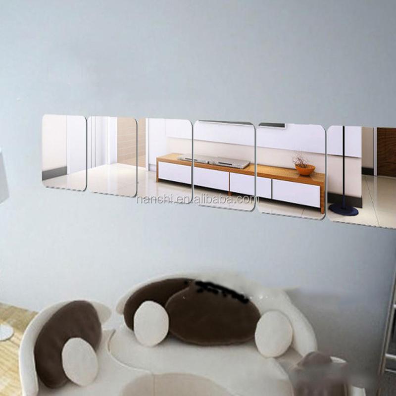 Carr acrylique miroir sticker bricolage salle de bains for Miroir indonesia