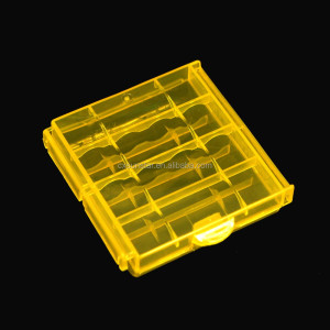 Coloful Battery Holder Case 4 AA AAA Hard Plastic Storage Box Cover For 14500 10440 Battery