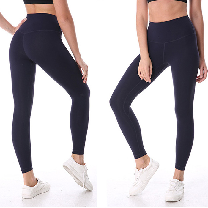 Rendah MOQ Hot Sale Warna Hitam Nylon Spandex Yoga Celana Legging