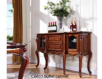 C6611Chinese Wooden Sideboard Multifunctional Solid Wood Dining Room  Sideboard Restaurant Meal Side Cabinet