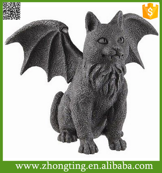 Night Guardian Winged Garden Cat Gargoyle Gargoyle Statues