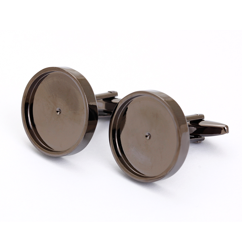 Low price best sell blank plastic cufflinks