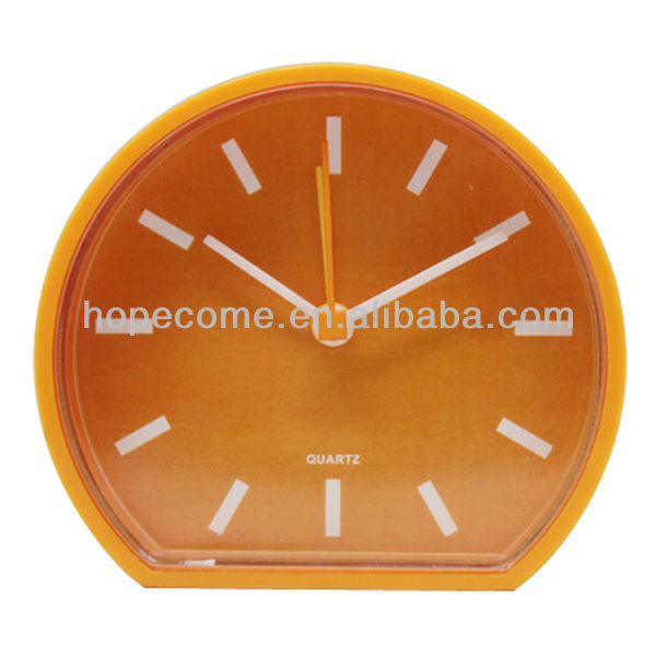 Customized Personal Plastic Mini Desk Table Alarm Clock