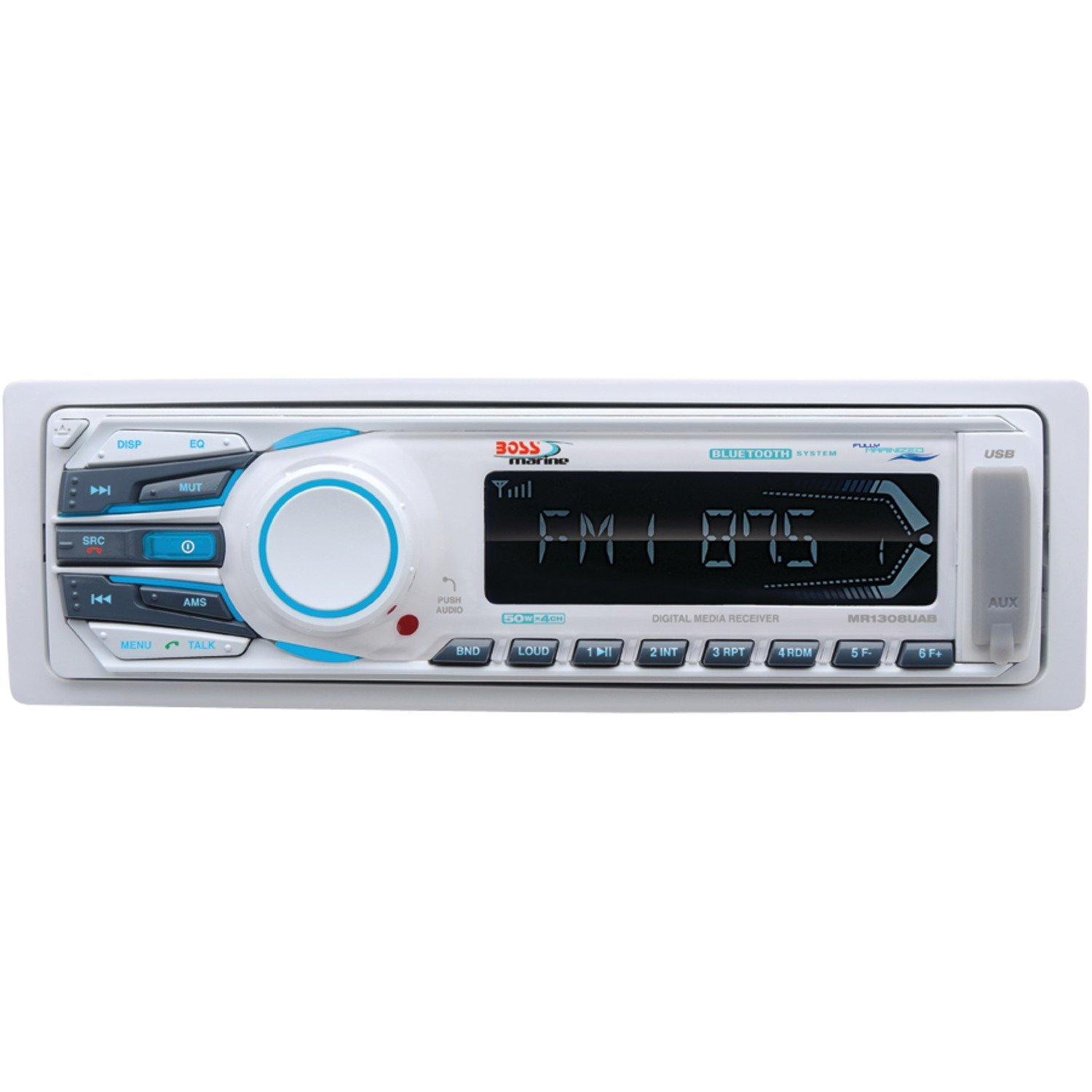 BOSS AUDIO MR1308UAB Marine Single-DIN Mechless Receiver with Bluetooth(R)