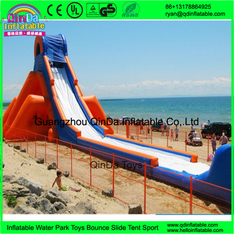 The Tallest Water Slide Commercial Giant Inflatable Slide Takes Off On Beach