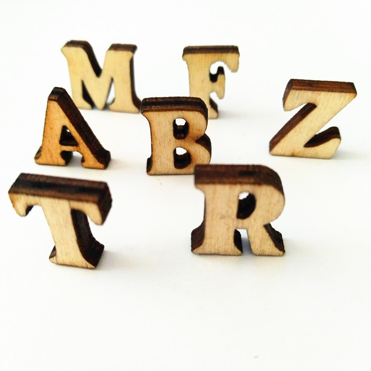 Natural Laser Cutting Little Size Wood Letters For Sale