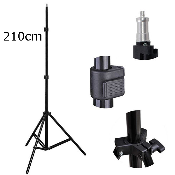 Lightweight N portable 6.9ft 210cm 2.1m Photo Video Studio Lighting Photography Stands Tripod with 1/4 screw head