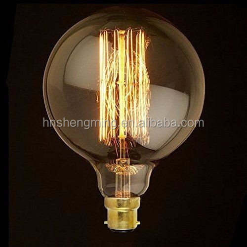 220V B22 bayonet light bulb Antique vintage style edison light bulbs G95