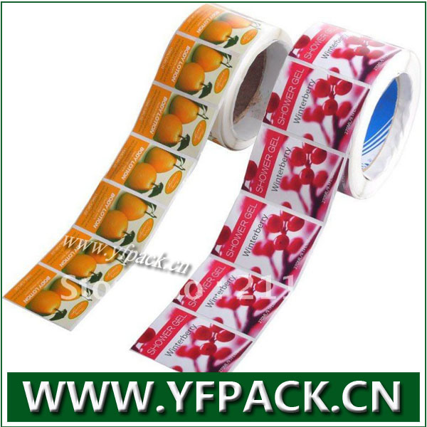 Full Color Printing Rolled Vinyl Sticker