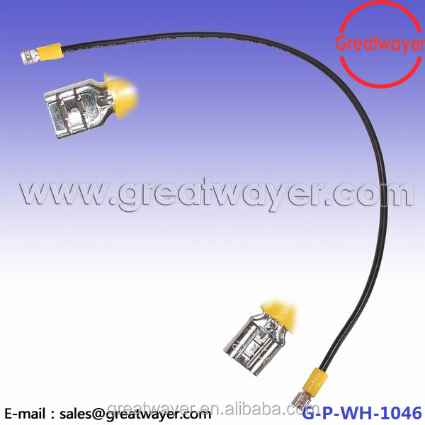 black UL 1015 12AWG cable 250 insulation terminal for battery