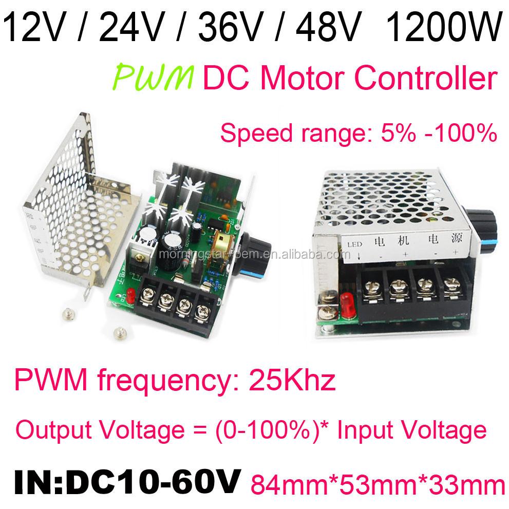 Dc10-60v Dc Motor Speed Regulator 12v 24v 36v 48v High Power Drive Module Pwm Motor Speed Controller 20a Current Regulator Motor Controller Electrical Equipments & Supplies