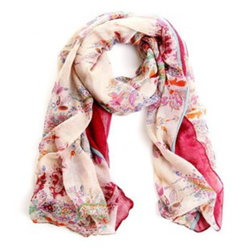New Scarf Women Shawls and Scarves Floral Print Sunscreen bufandas mujer Autumn Winter Scarf Luxury Brand Scarf Women 2015 WJ010