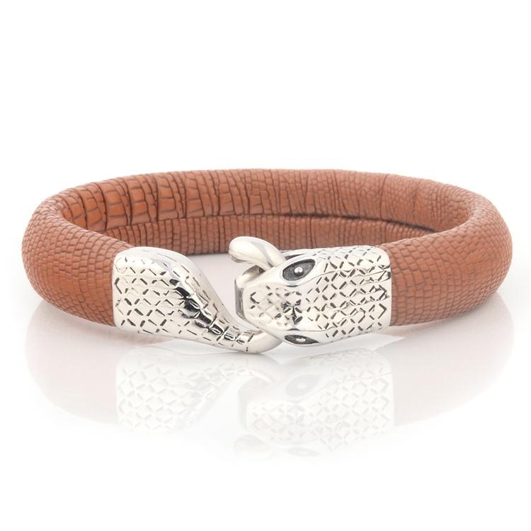 black leather bracelets for men cheap personalized black