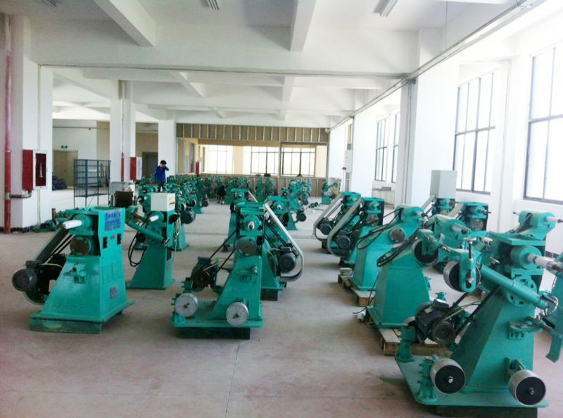 Surface treatment polishing equipment and abrasive belt grinding machine for faucet parts metal door handle foundry pieces
