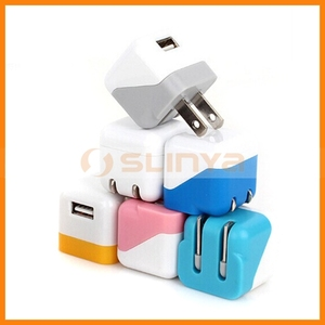 EU US AU All Plug Single USB Fold Mobile Wall Mini Charger For iPhone 7