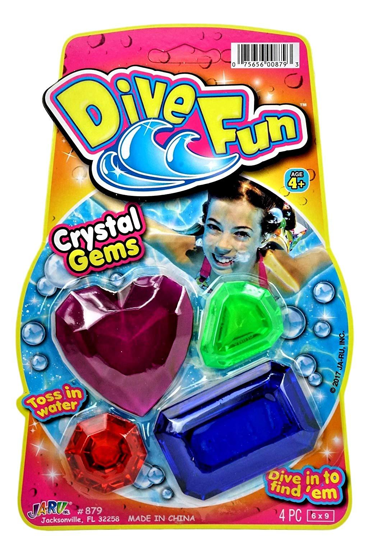 JA-RU Diving Gems (Pack of 1) Swimming Pool Dive Toys | Item #879-1