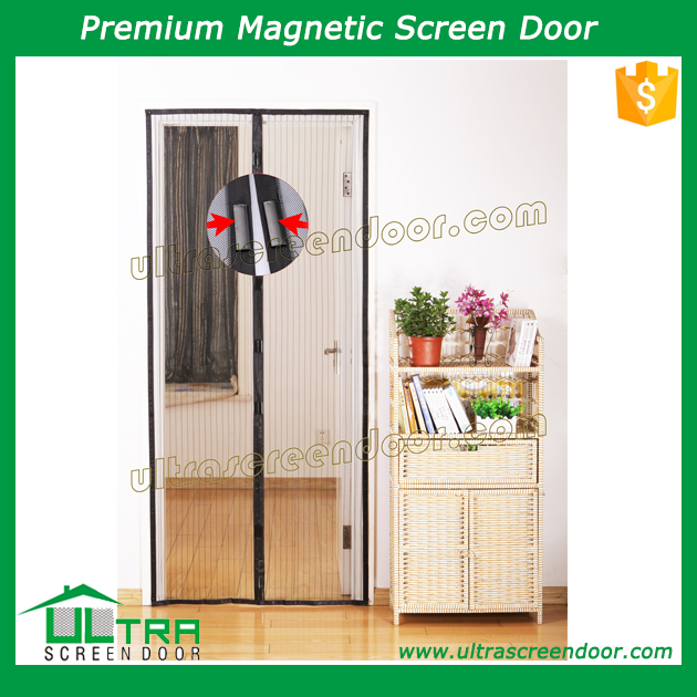 Fly Mesh Door Screen Curtain For French Doors