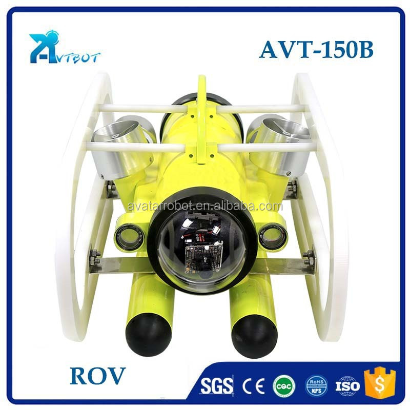 Fast speed waterproof 150m depth underwater remotely operated vehicle