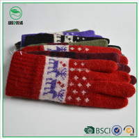 Cheap Winter Gloves Acrylic ,Thinsulate Lining Gloves for Winter as Christmas Gift
