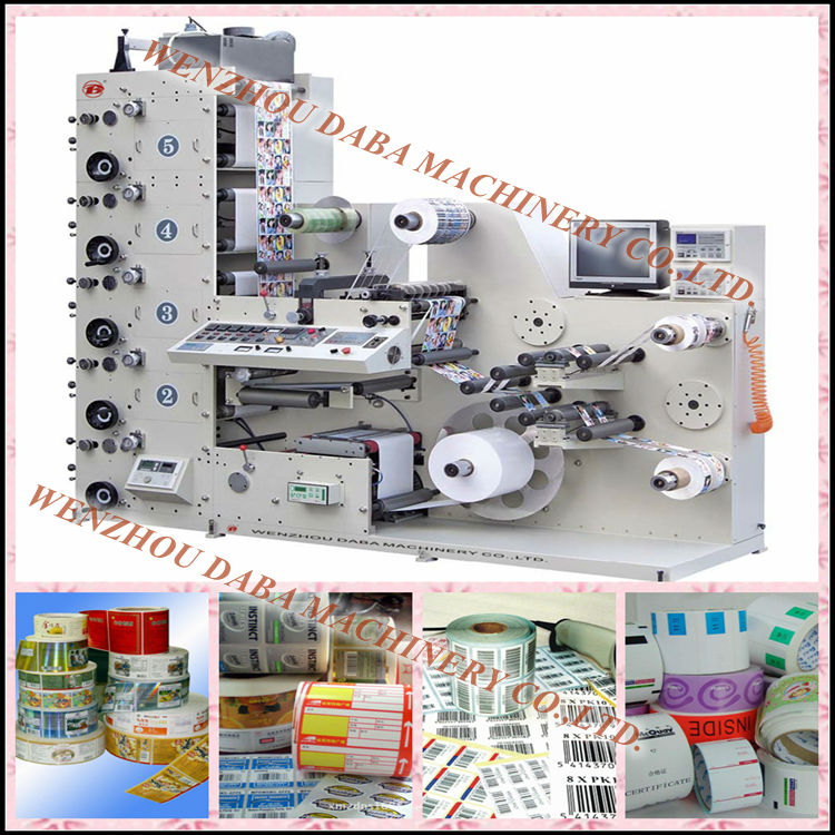 Dbry320-5c 5 Colors Uv Type Flexographic Printing Machine ...