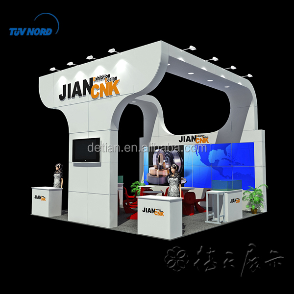 Tension Fabric Exhibition Stands : Cheap wooden exhibit booth collapsible design