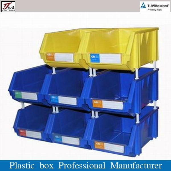 De almacenamiento apilable bin de pl stico caja cajas y for Cajas de plastico precio