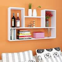 Hot selling Wooden home wall decoration, high quality wall decoration,Floating Wooden Wall Shelf