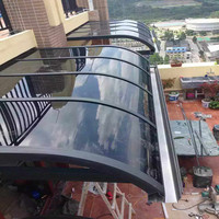 Polycarbonate shade awning / Clear plastic awnings and awning brackets
