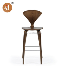 Gaya Vintage Norman Cherner Replika Kayu Bar Stool