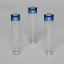 mini glass bottle 30ml flat bottom glass vials with cap