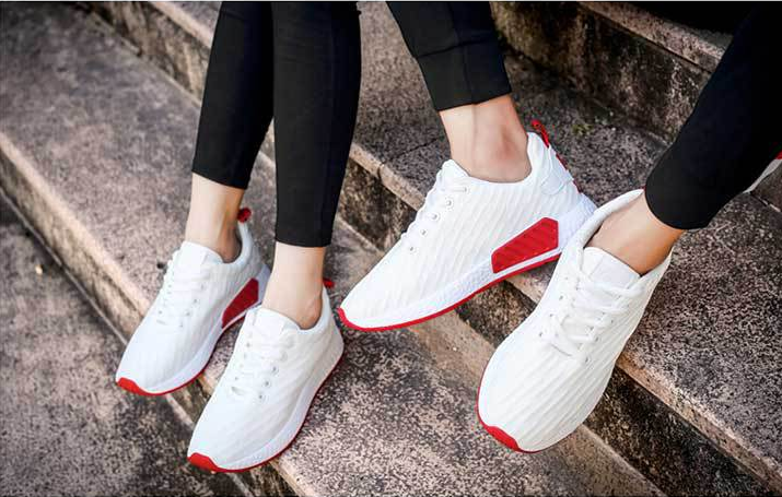 Brand small order custom durable white casual sport shoes for men