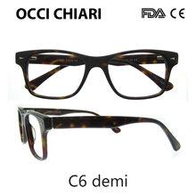 OCCI CHIARI мужские очки с оптической оправой, черные винтажные ацетатные очки с полной оправой, очки для близорукости, прозрачные линзы, очки Gafas...(Китай)