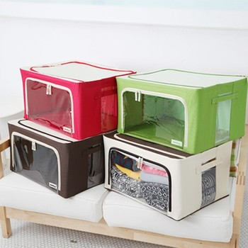 Great New Oxford Fabric Zipper Foldable Storage Box Bag Clothes Books Home  Organizer (FH FC001