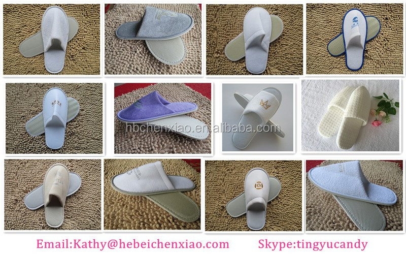 amenity customized disposable hotel slipper for hospital/spa/hotel/home